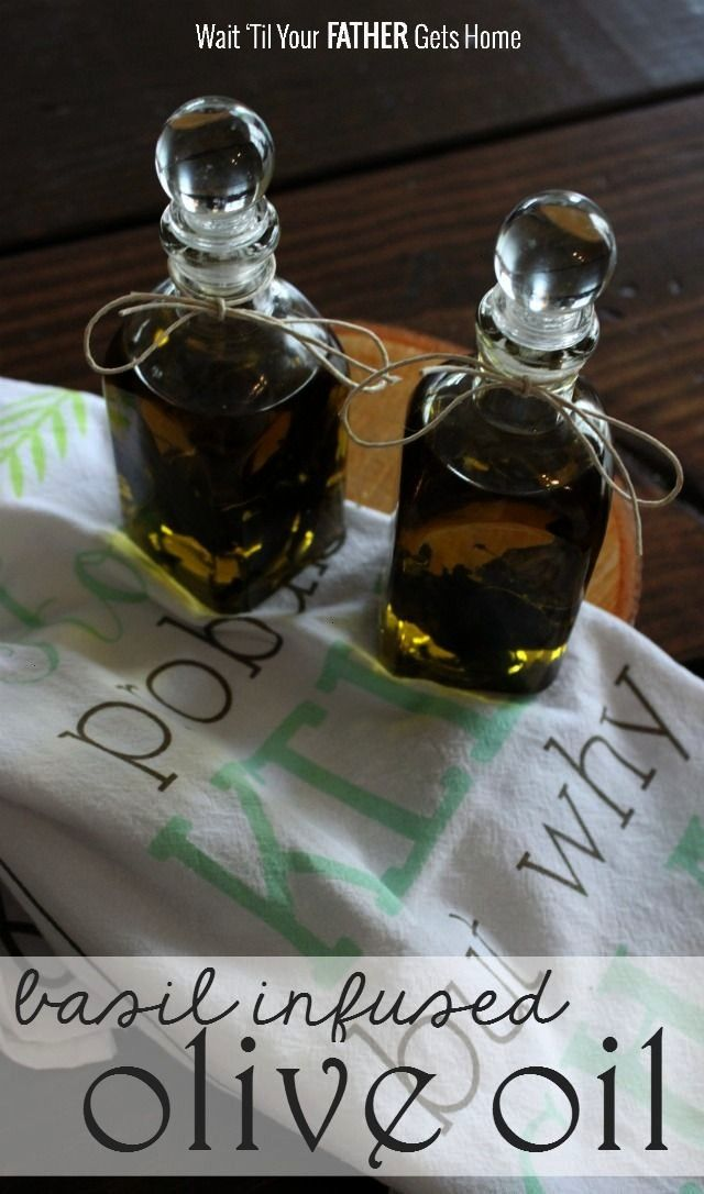 some basil infused olive oil with your basil crop this season from Wait til Your Father Gets Home oliveMake some basil infused olive oil with your basil crop this season...