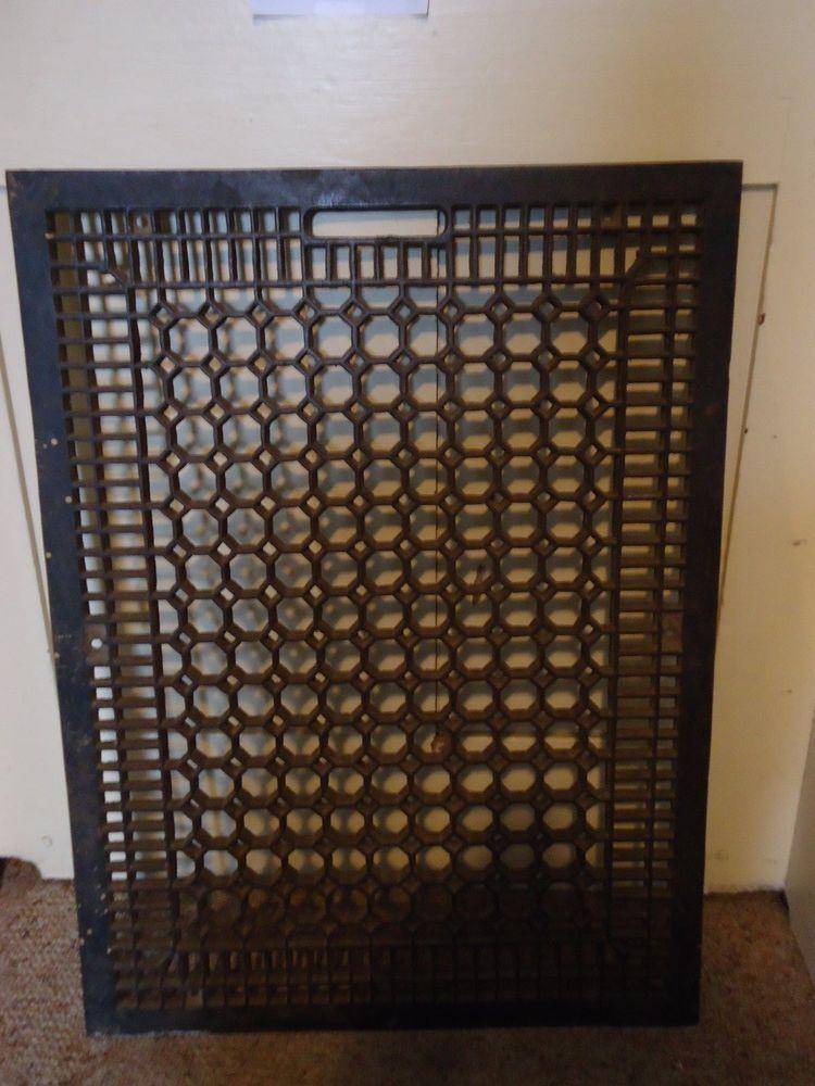 Details About Large Antique Heavy Cast Iron Fancy Floor