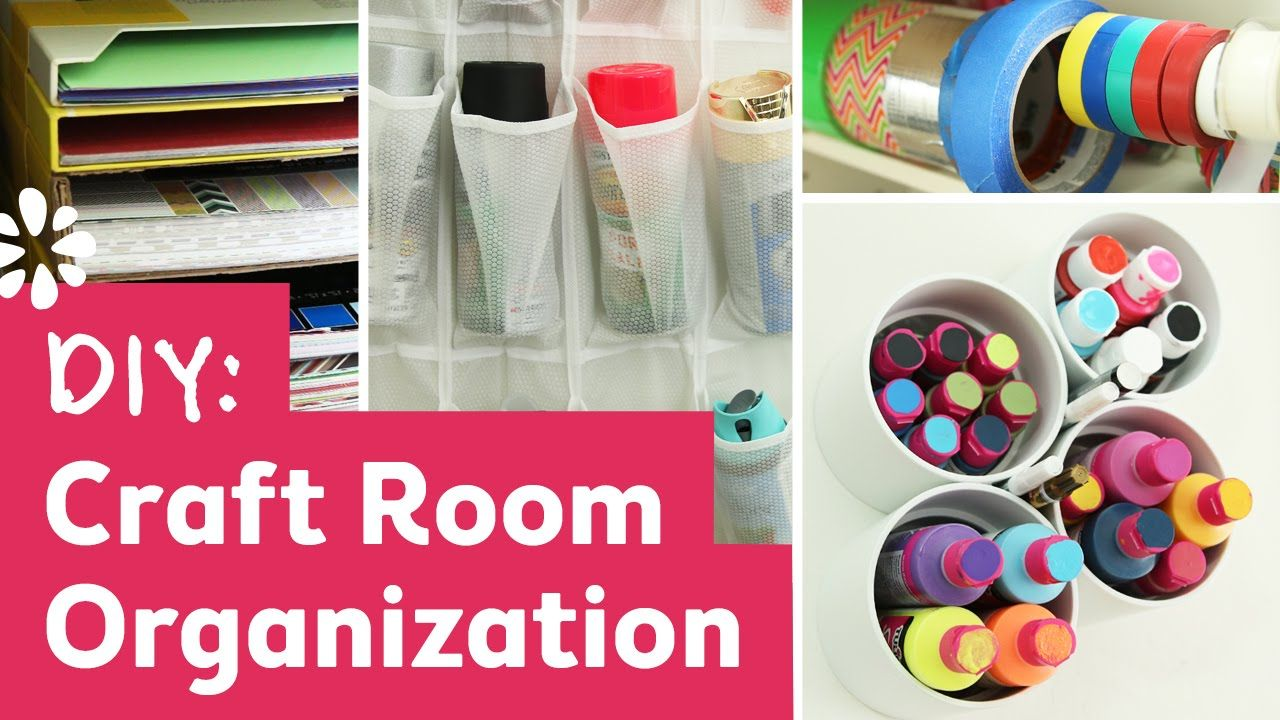 Storage Solutions For Craft Rooms: DIY Craft Room Organization & Storage Solutions