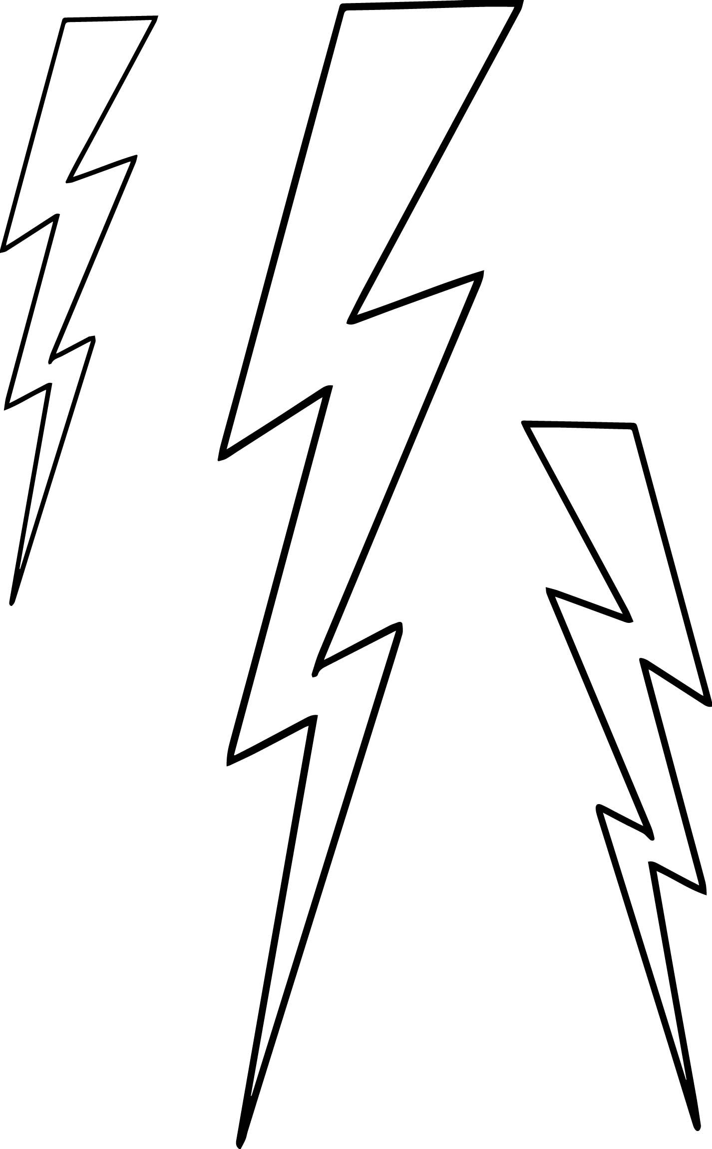 Cool Three Lightningbolt Coloring Page Coloring Pages Lightning Bolt Rose Coloring Pages
