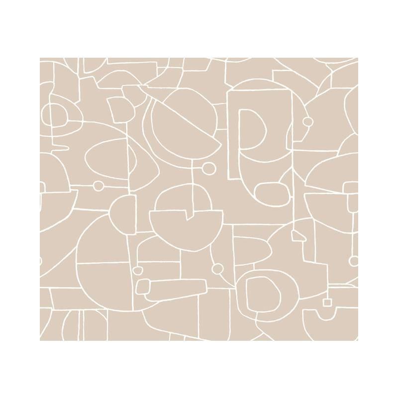Psw1044rl Line Art Modern Neutral Peel And Stick Wallpaper Peel And Stick Wallpaper Pattern Wallpaper Wallpaper