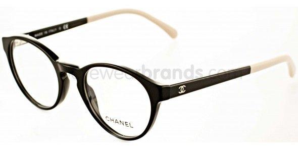 e19e547e8 Chanel CH3231 1333 Black/Cream Chanel Frames | FREE Prescription Lenses |  Worldwide Delivery