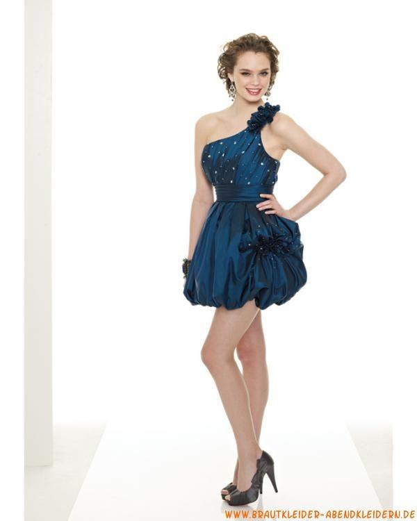 Kurzes festliches Abendkleid aus Taft mit Pailletten | abendkleider ...