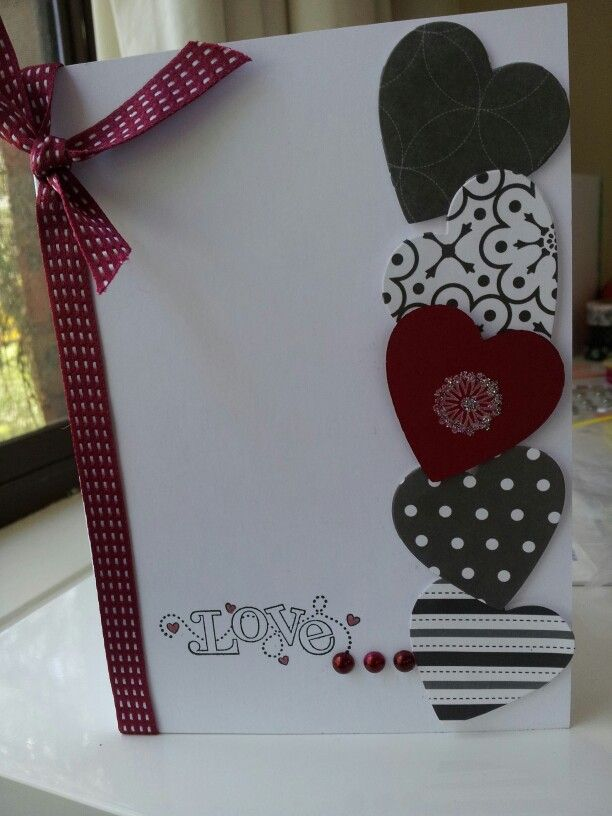 simple quick valentines card  valentines cards cards
