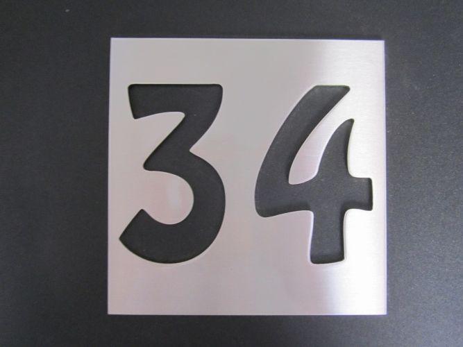 Gamme Inox Plaque inox découpée - Numéro de maison, => 74.90 euros : Plaque inox découpée - Numéro de maison discount - Gamme Inox discount - Gamme Inox comparateur.