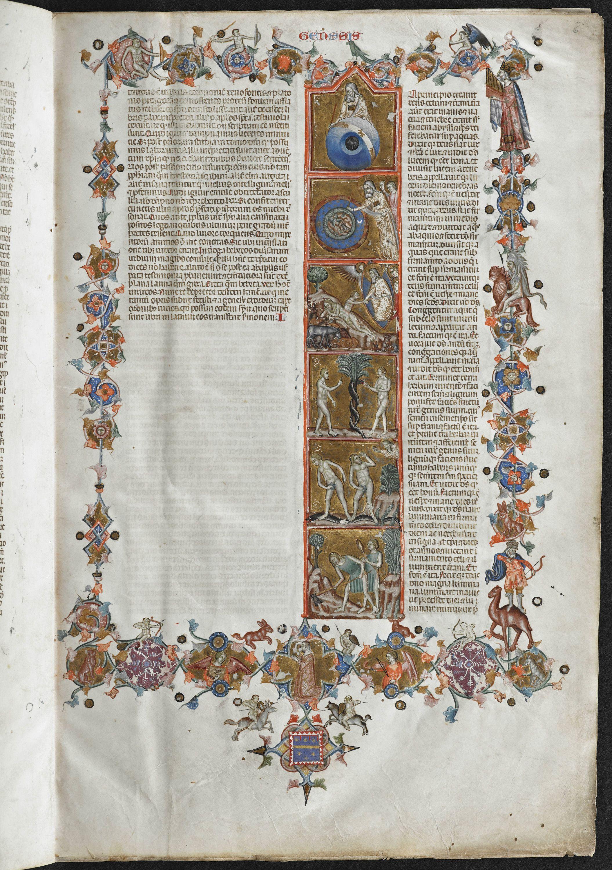 Anjou Bible, folio 006r, KU Leuven Libraries, Maurits Sabbe