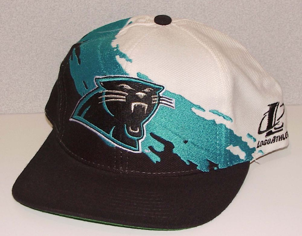 79c9ed11df3 Vintage 90s Carolina Panthers Logo Athletic Splash Snapback Hat Nwot New  Old Stk from  69.95