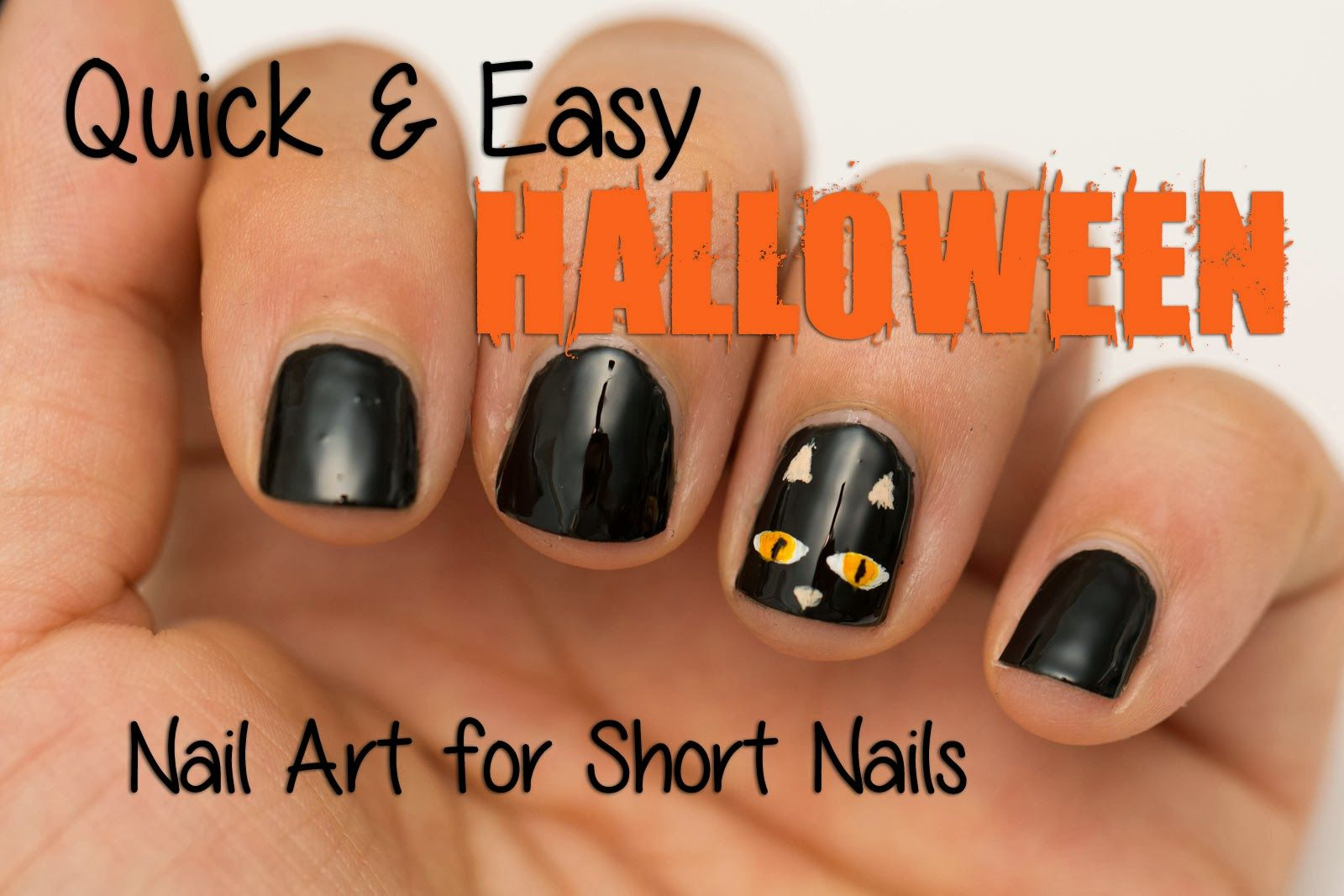 Simple Halloween Nail Art Designs Quick And Easy Halloween Nail