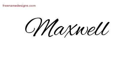 Maxwell Cursive Name Tattoo Designs