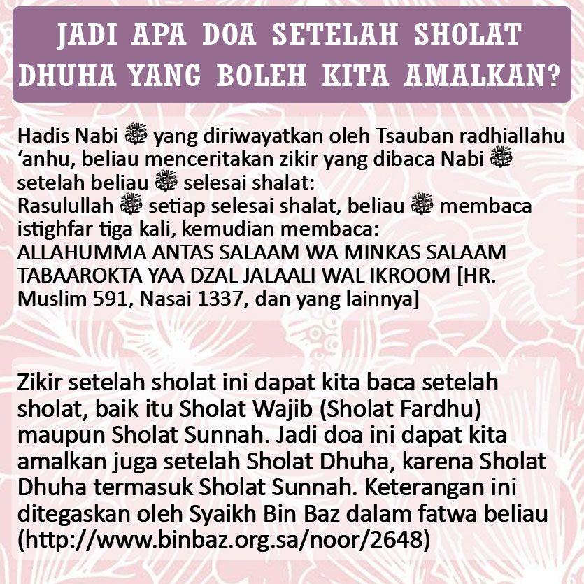 Shalat Doa Doadoazikir Zikir Dzikir Sesudahshalat
