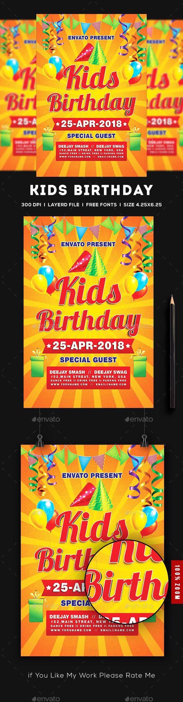 Kids birthday party invitation flyer template psd download https kids birthday party invitation flyer template psd download httpsgraphicriver filmwisefo