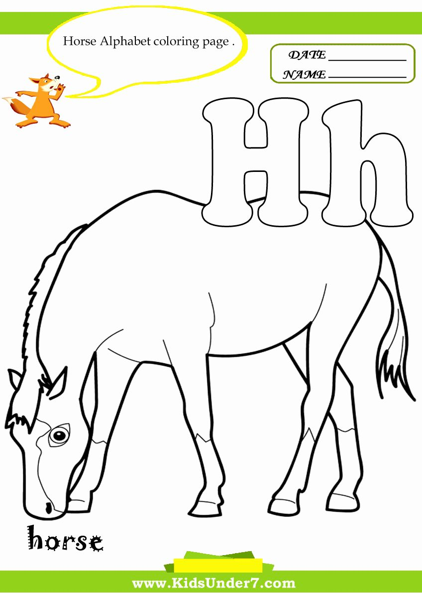 H For Horse Coloring Pages For Kids Horse Coloring Pages Horse Coloring Pumpkin Coloring Pages