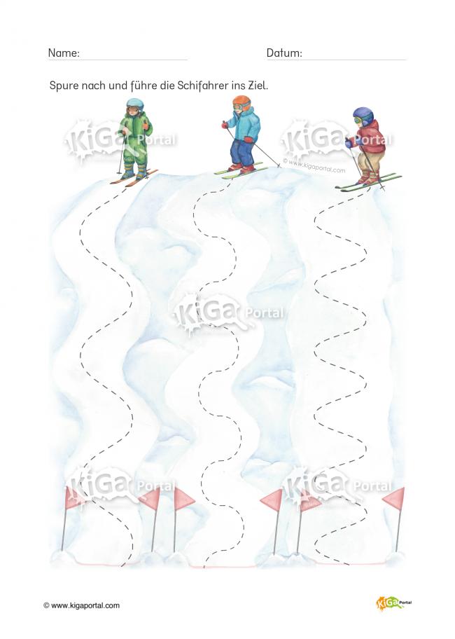 de kindergarten kigaportal schnee wintersport schi ski schifahren schifahrer skifahrer. Black Bedroom Furniture Sets. Home Design Ideas