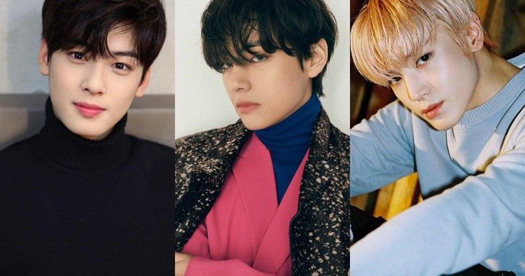 Bts V Astro Eunwoo And More The 100 Reveals The Most Handsome Faces Of K Pop Kpopstarz Handsome Faces Bts V Prince Royce