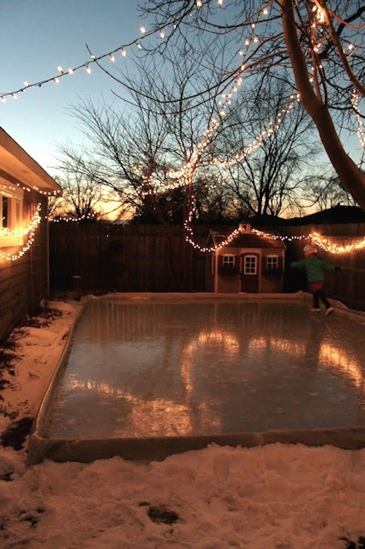 Backyard Ice Rink Lights hardscaping 101: backyard ice skating rinks | home sweet home