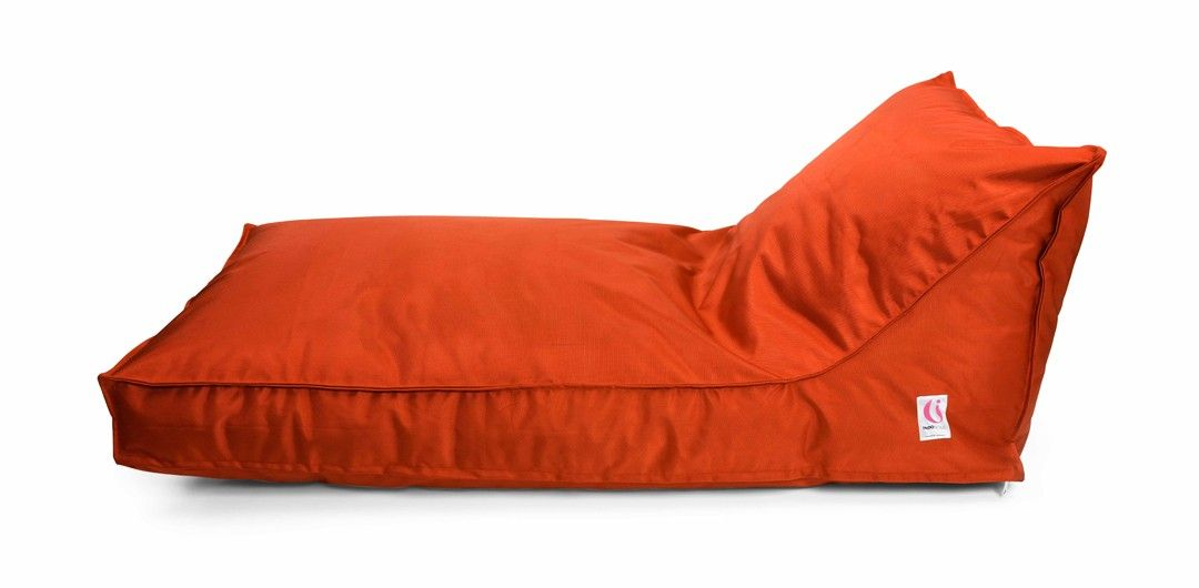 Orange long straight lounger beanbag ISLSL