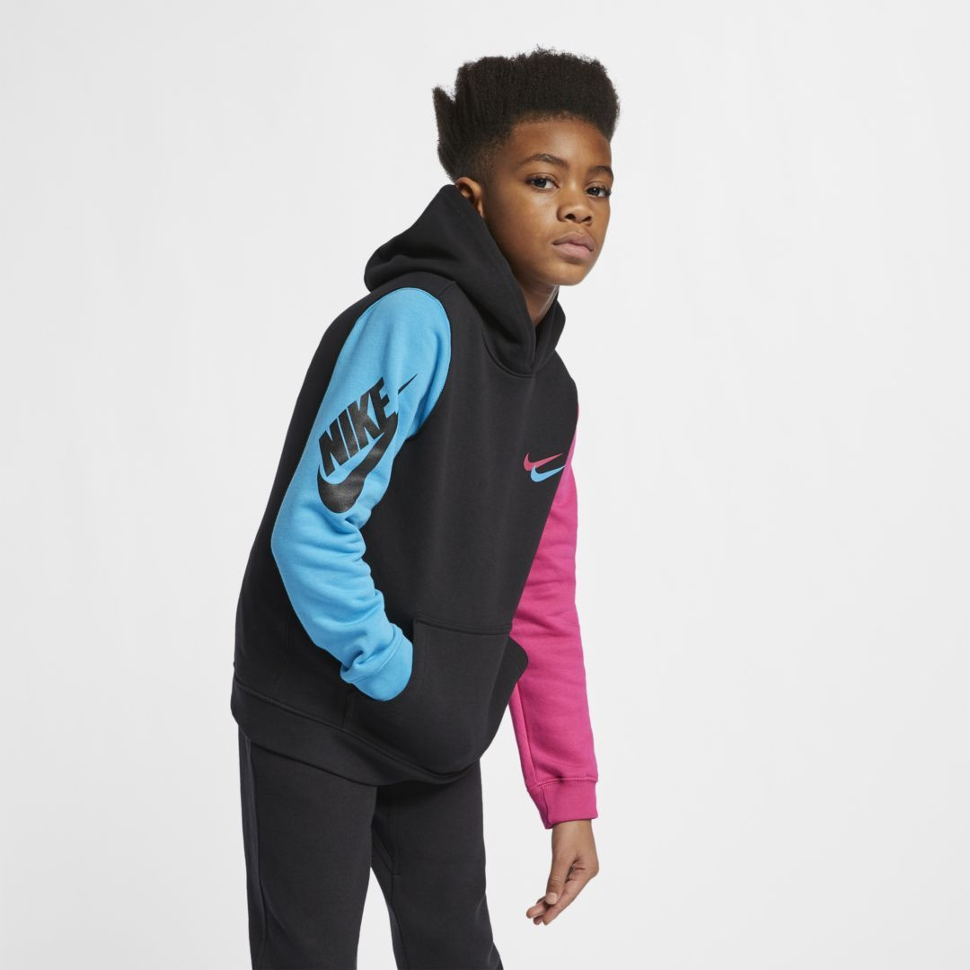 d8240b31a Nike Sportswear Club Fleece Big Kids' (Boys') Pullover Hoodie Size XL  (Black)