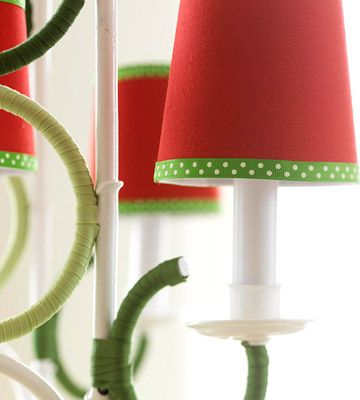 Easy christmas decorating with ribbon chandelier shades easy christmas decorating with ribbon chandelier shadeslamp aloadofball Image collections