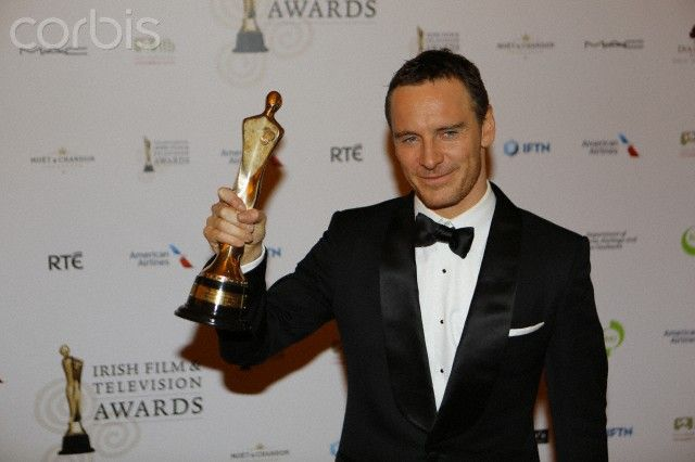 Michael Fassbender winner of the IFTA for Best Supporting Actor