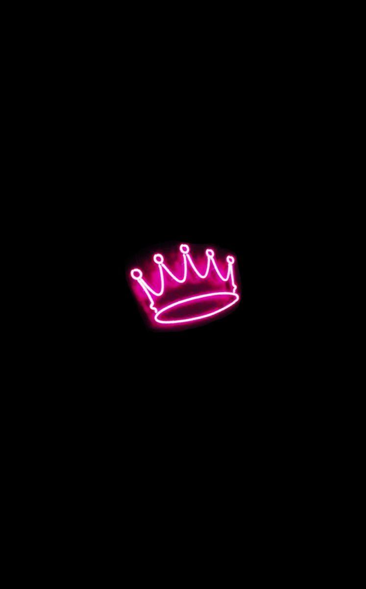 Neon Pink Crown Sign Pink Neon Sign Neon Light Wallpaper Wallpaper Iphone Neon