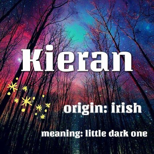 """Kieran: Ursprung irisch, was """"wenig dunkel"""" bedeutet. #babynamesboy"""