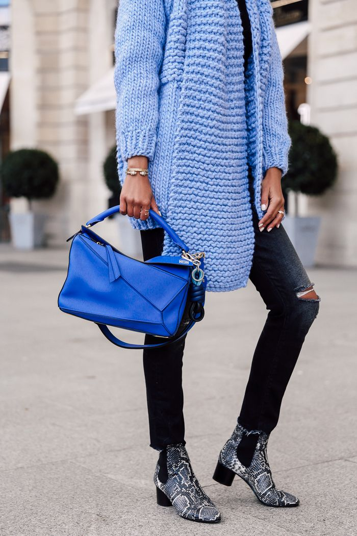 a9f4de8e07 ... Fleur  PARIS FASHION WEEK BLUES - I LOVE MR MITTENS Textured knit  cardigan