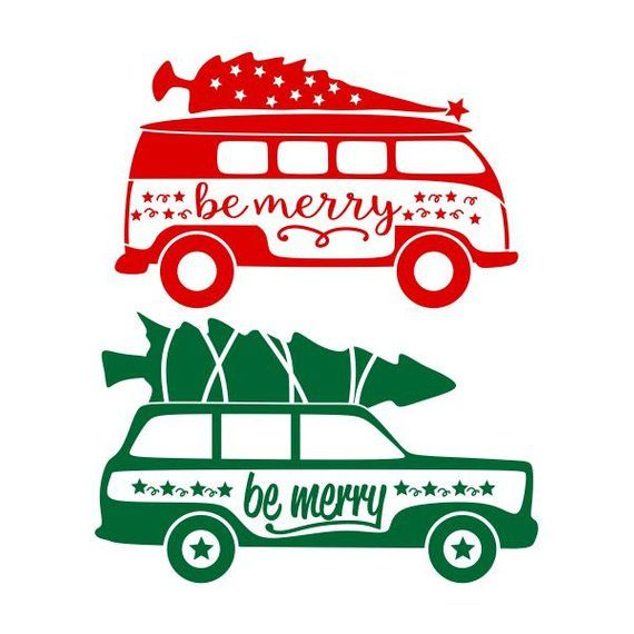 Wagon Bus Vw Christmas Cuttable Design Svg Png Dxf Eps Designs Cameo File Silhouette Christmas Shirts Vinyl