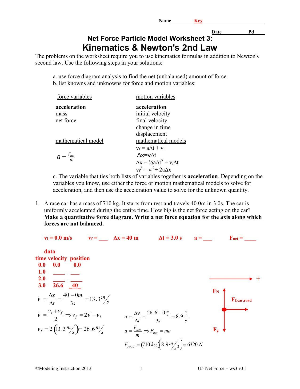 Net Force Worksheet Answers Advanced Physics Unit 6 Worksheet 3 Forces Just Before In 2020 Word Problem Worksheets Text Features Worksheet Worksheet Template
