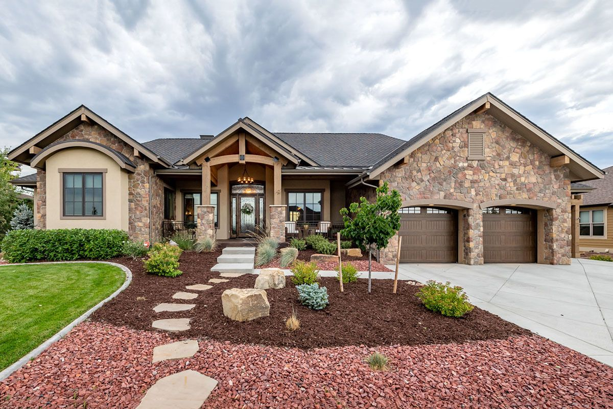 Plan 95086RW Mountain New American Home Plan with 4Car