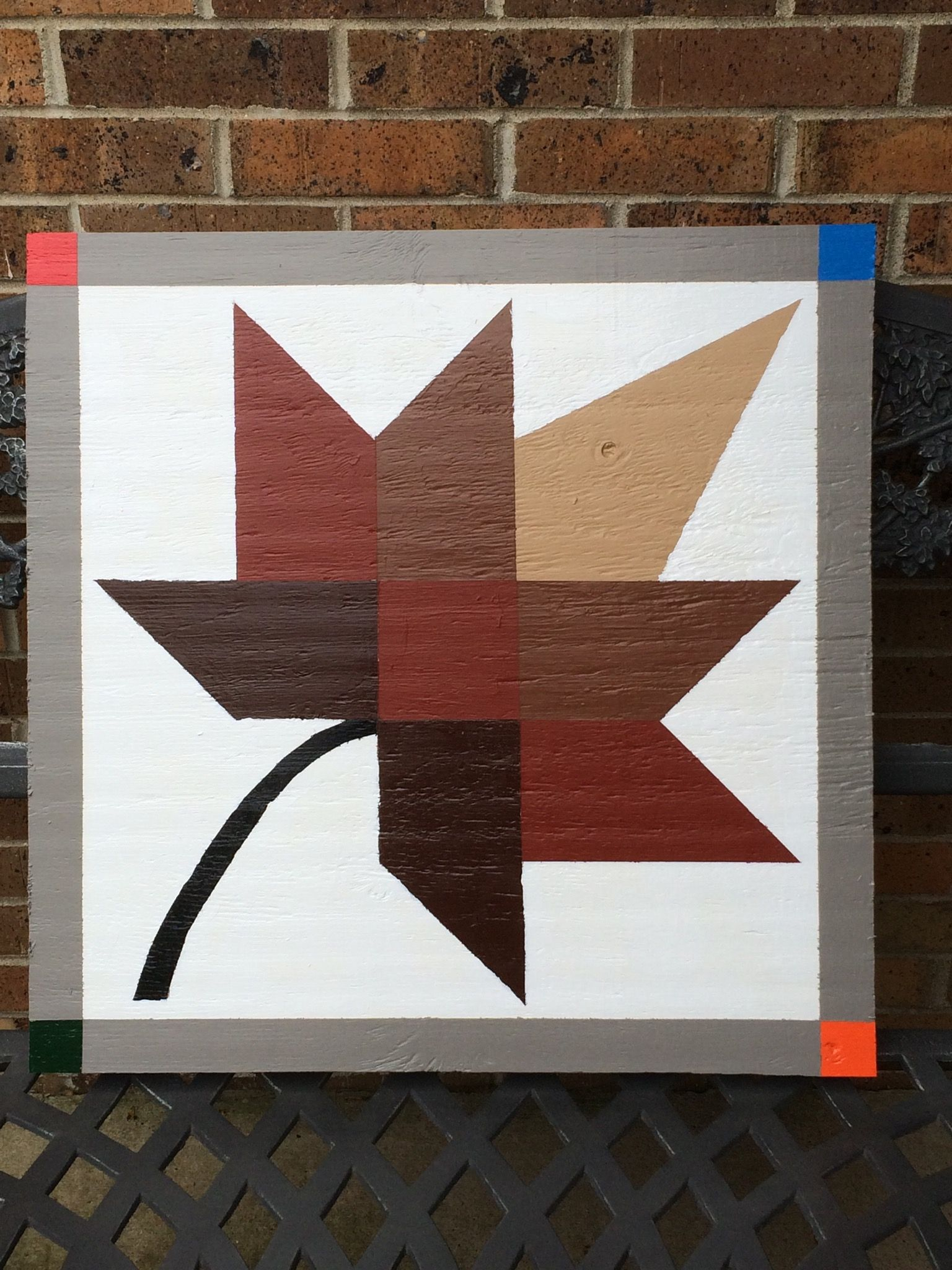2' x 2' Fall Colors Garage Barn Quilt