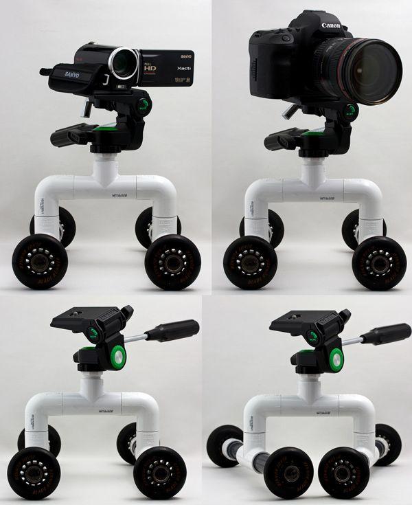Diy Pvc Roller Dolly For Cameras Camcorders Fotografie Zubehor Diy Fotostudio Do It Yourself Videos