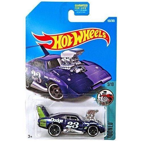 Hot Wheels 2017 Tooned Dodge Charger Daytona 103 365 Purple 5 10 In