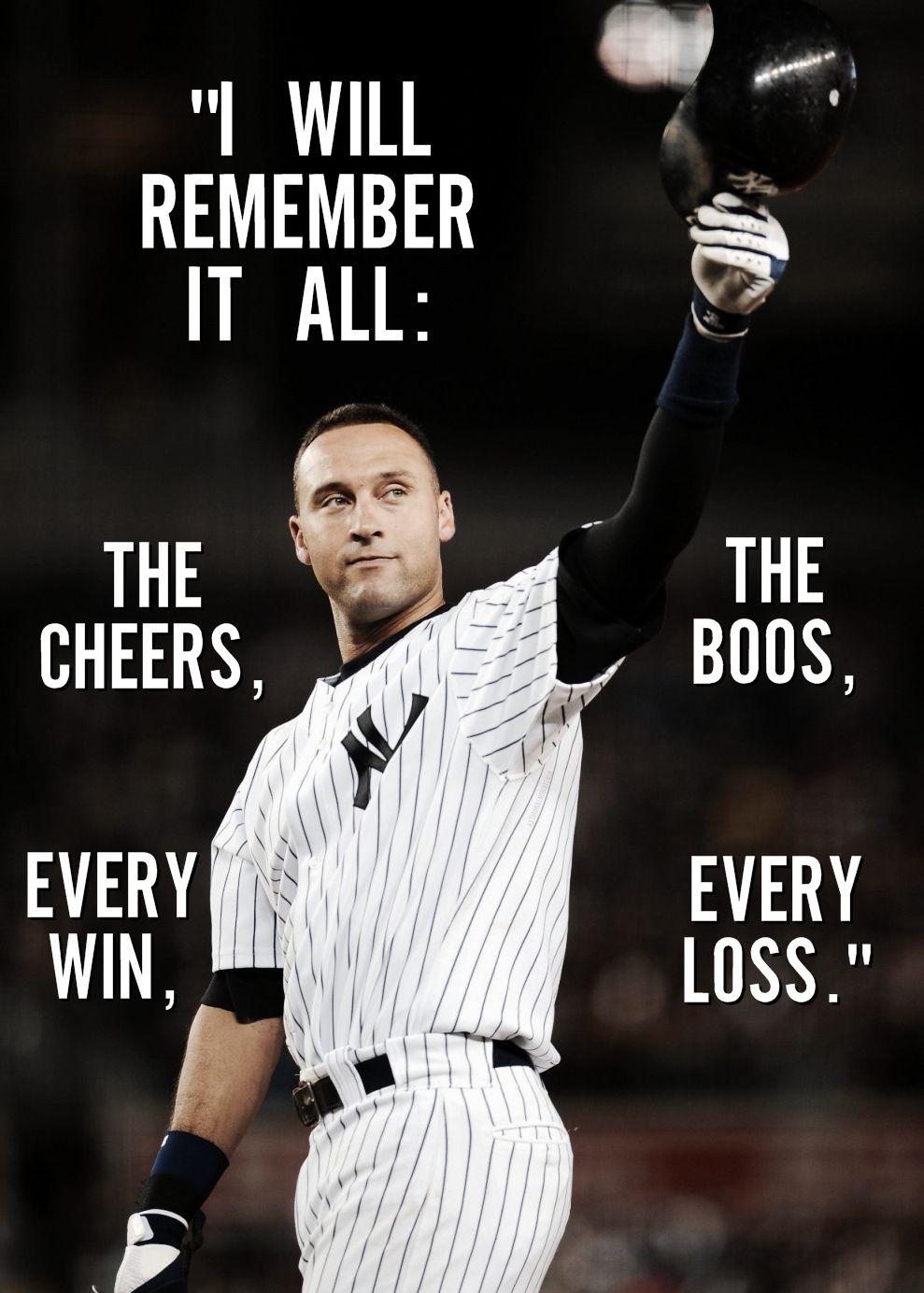 Thank You Derek Jeter Derek Jeter Quotes Yankees Pictures