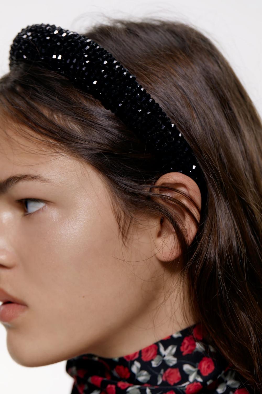 Padded Headband With Rhinestones View All Accessories Woman Zara United Kingdom Penteado Com Tiara Tiara De Strass Tiaras De Cabelo