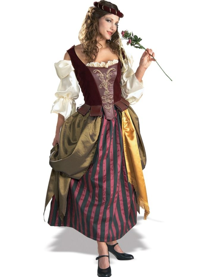 570b68d5ebc Sexy Sexy Renaissance Maiden Costume Gypsy Wench Peasant Style Dress  Midieval Era