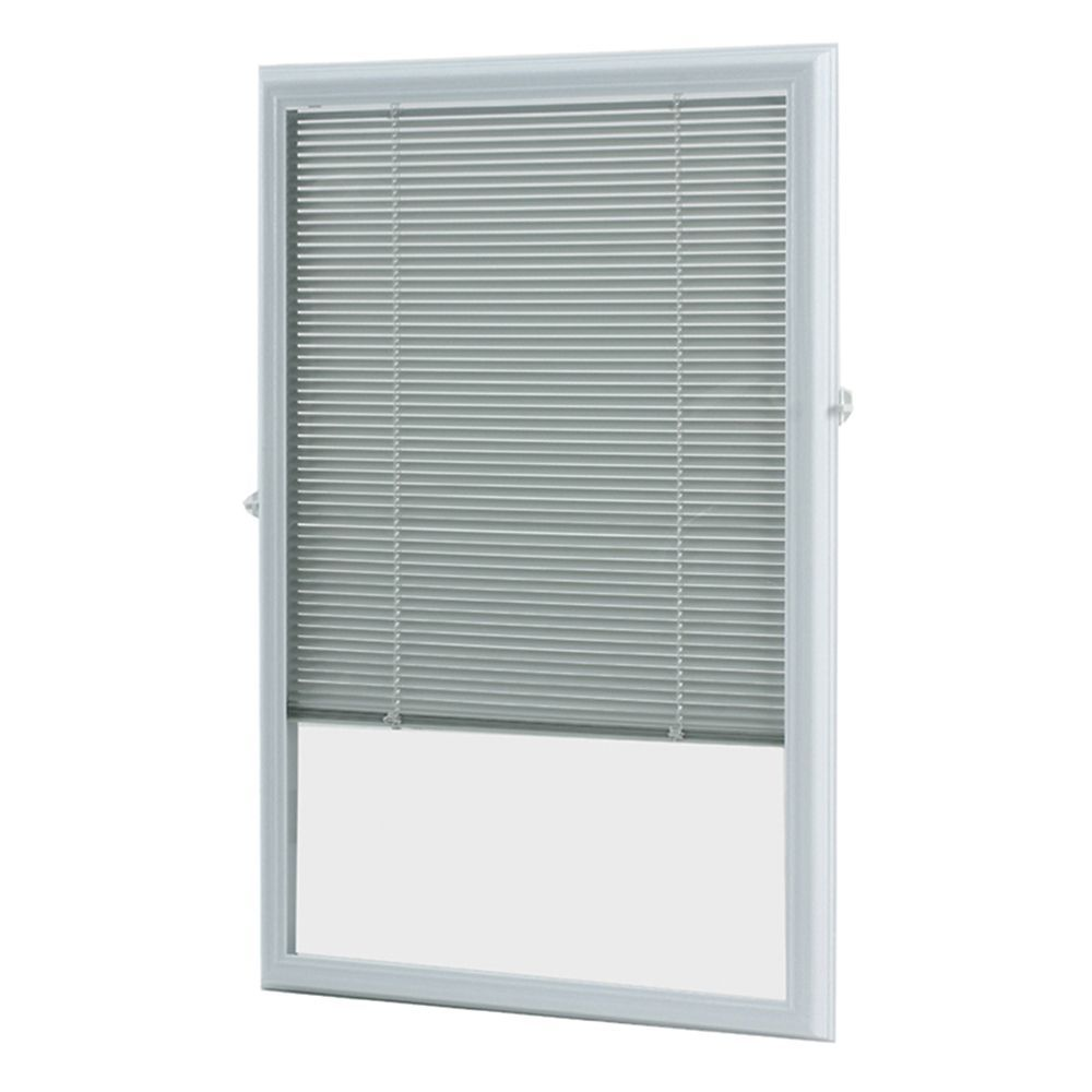 22inch x 36inch White Aluminum Addon Blind for Half