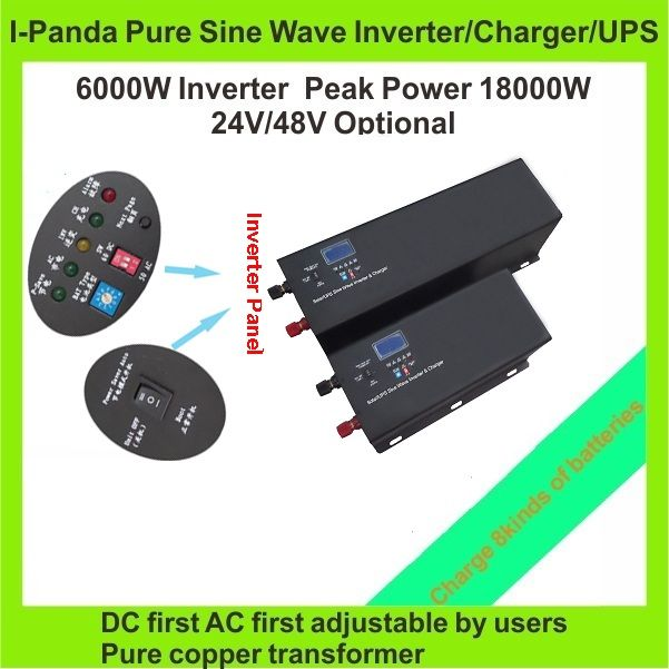 6000w Solar Inverter With Built In Ac Charger 6kw Ups For