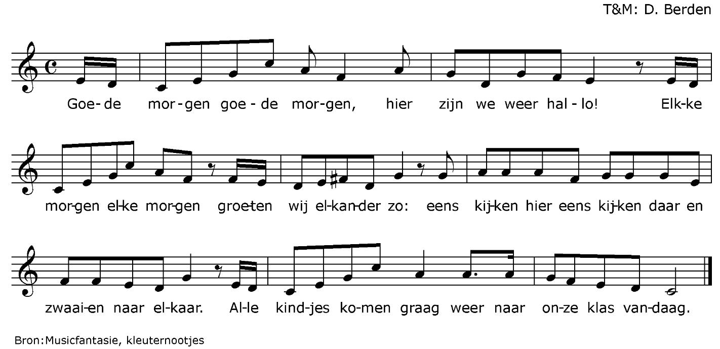 Wonderbaarlijk Goedemorgen lied uit kleuternootjes - Google zoeken | Liedjes LK-38