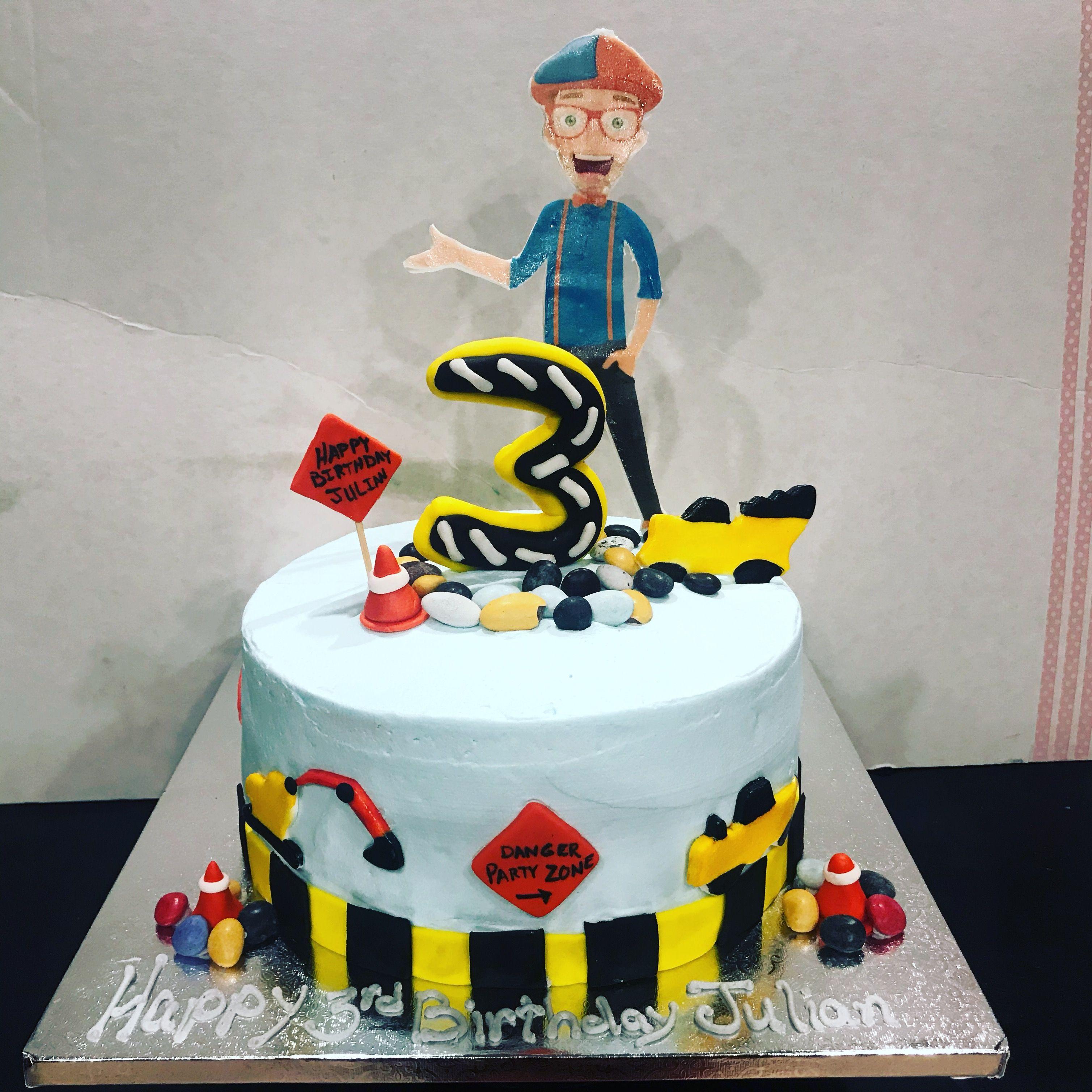 Blippi cake its a construction cake too saturday