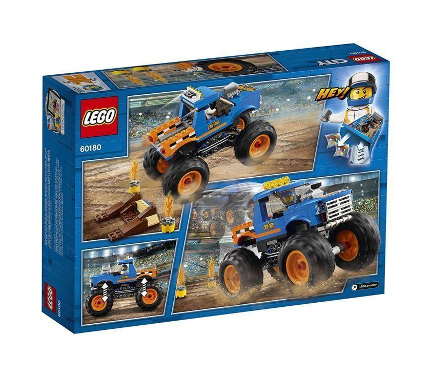 New Lego City Monster Truck 60180 Building Kit 192 Piece Free Shipping Lego Monster Trucks Monster Truck Toys Lego City