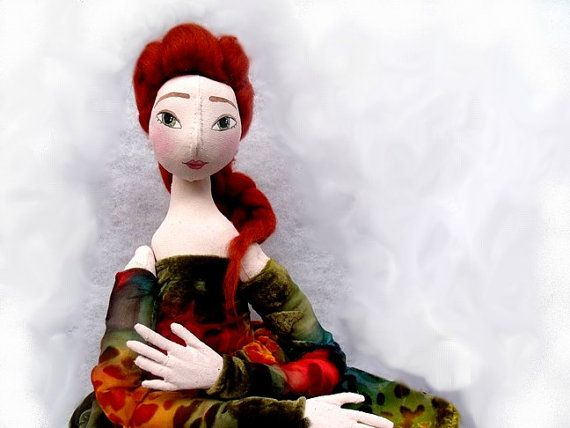 Valentine's day  ART DOLL Jointed soft doll with by eraberashop, $90.00