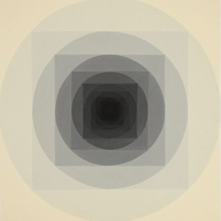 Concentric (2010), acrylic on muslin cotton, 21 x 21 in. | Piero Passacantando on Little Paper Planes