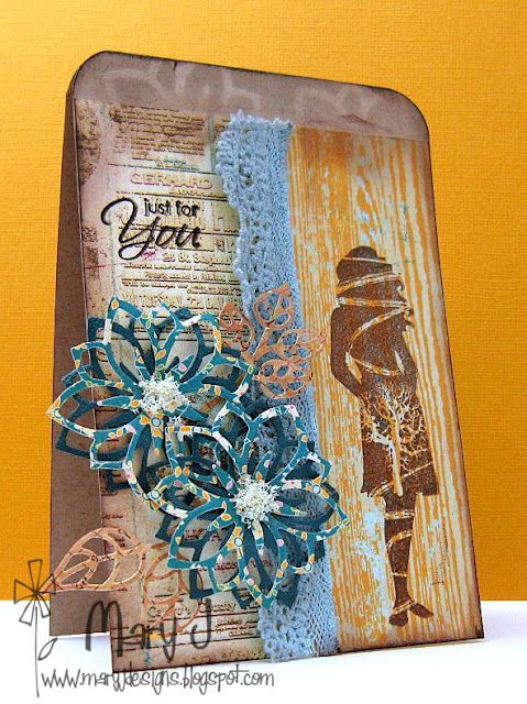 Card created by Mary Johnson using products available at www.quixoticpaperie.co.uk
