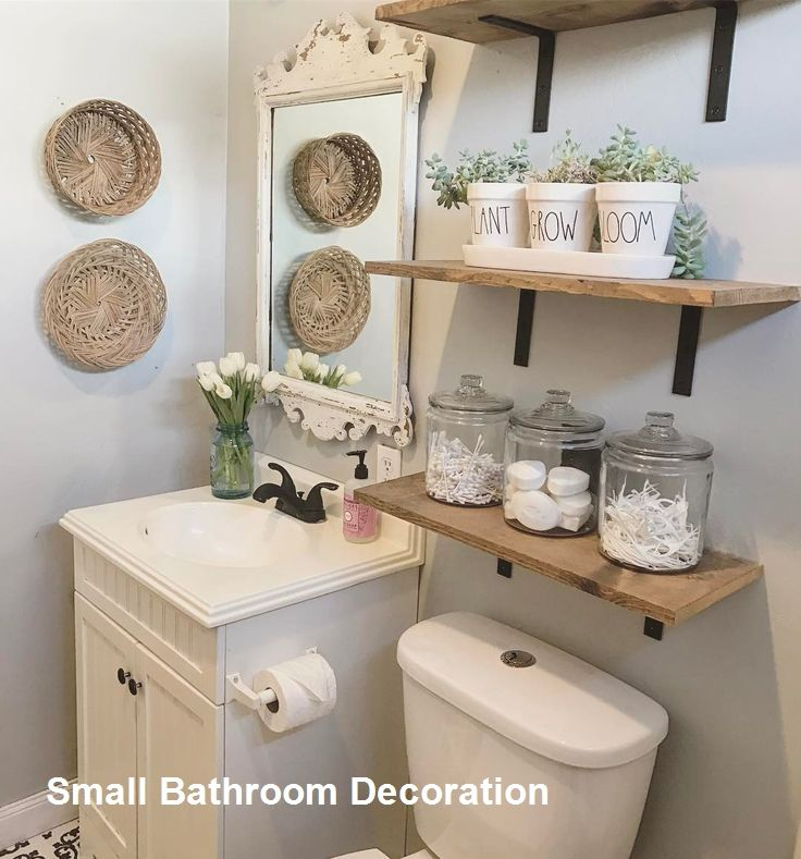 15 Decor And Design Ideas For Small Bathrooms 1 Half Bathroom Decor Bathroom Decor Small Bathroom Decor