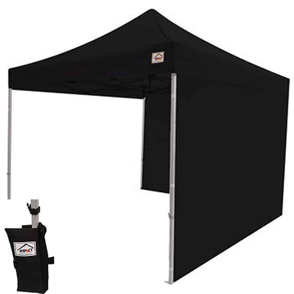 Impact Canopy 10 X 10 Ez Pop Up Canopy Tent Gazebo Bundle With Matching Sidewalls Weight Bags And Accessories Blac Pop Up Canopy Tent Canopy Tent Gazebo