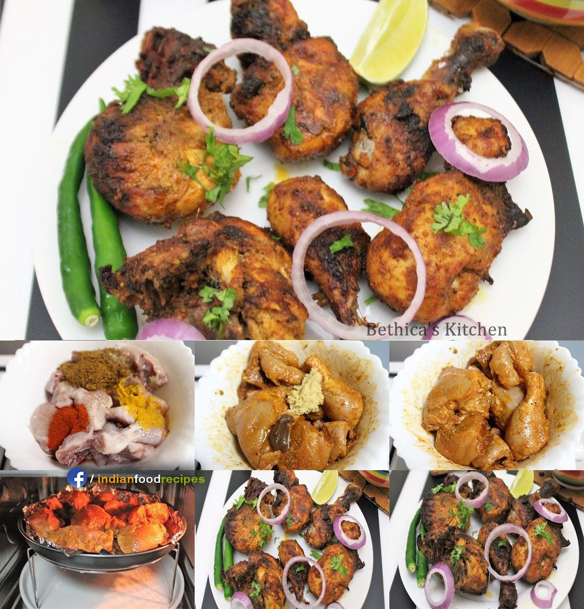 Chettinad flavoured grilled chicken recipe step by step