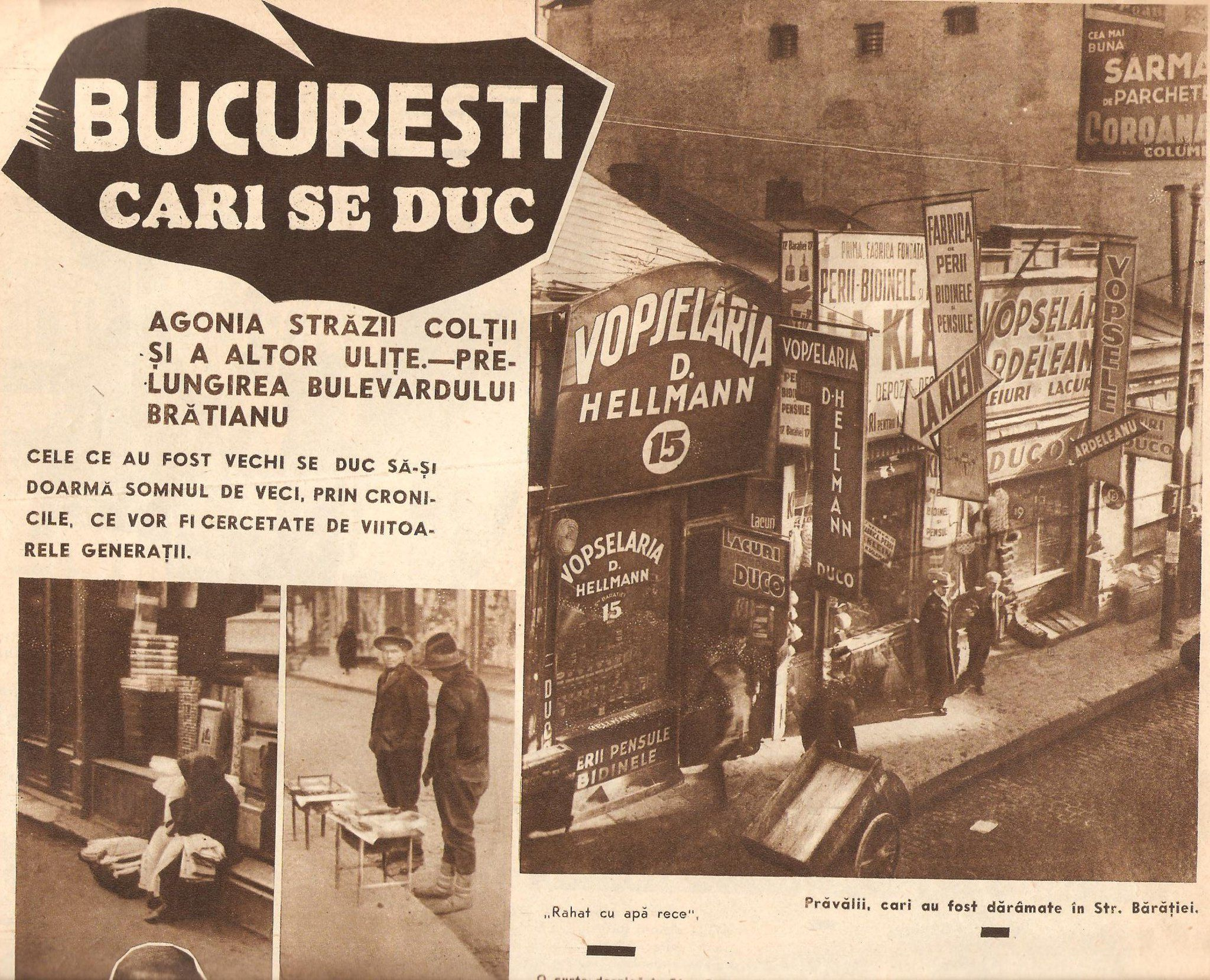 Firme de prăvălii bucureştene, 1935.