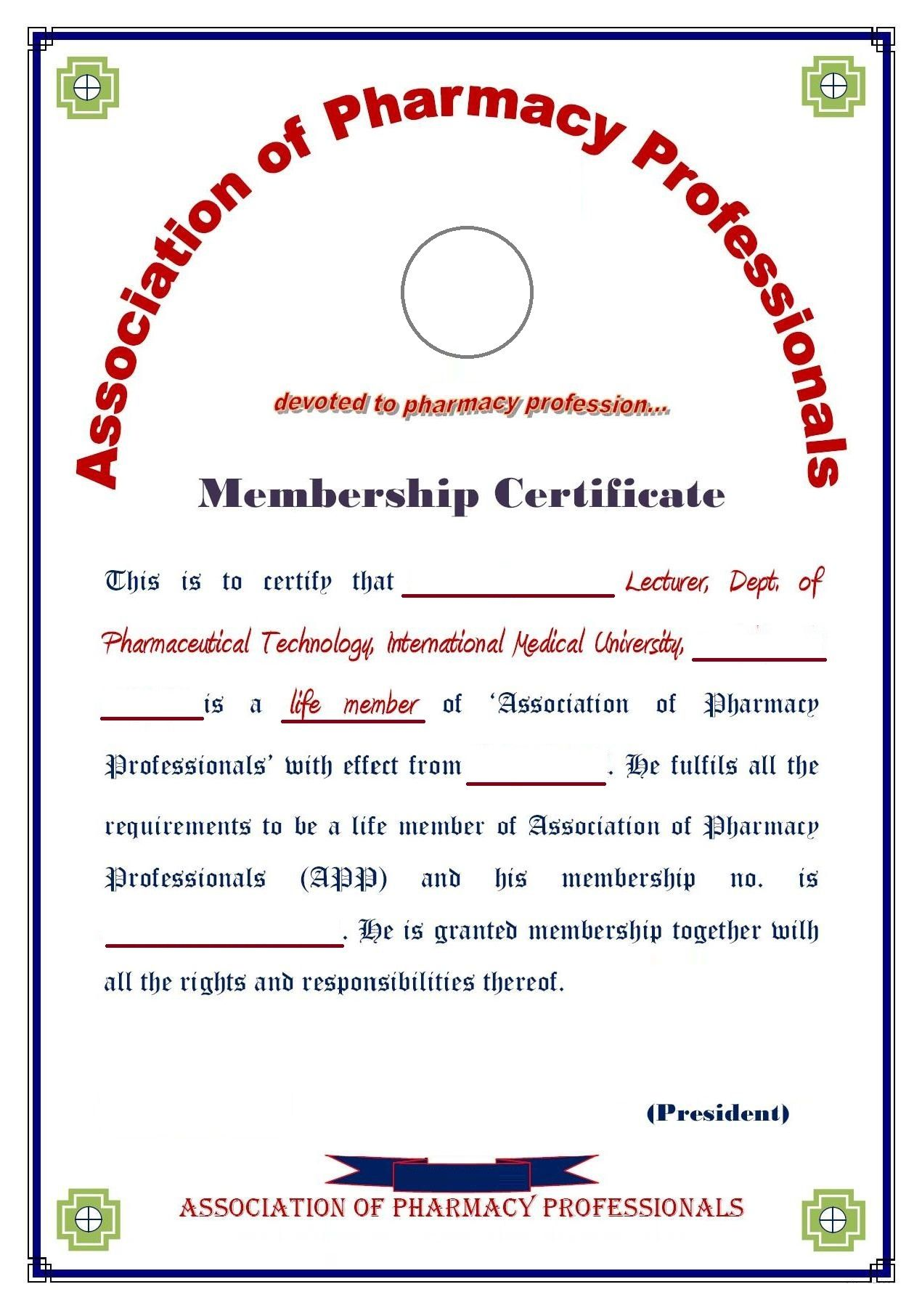 8 medical membership certificate templates pdf in 2020