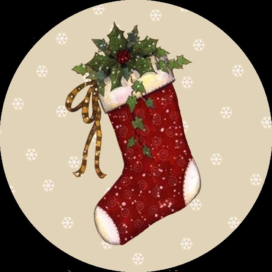 Открытка рождественский сапожок