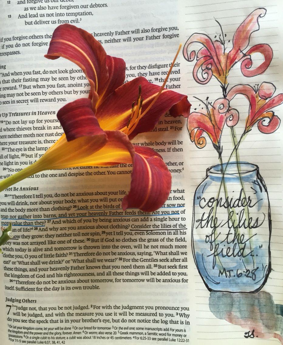 Bible Journaling, watercolor by Tisha Sheldon